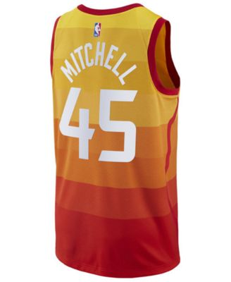 on sale 01a30 807d4 Nike Men Donovan Mitchell Utah Jazz City Swingman Jersey ...