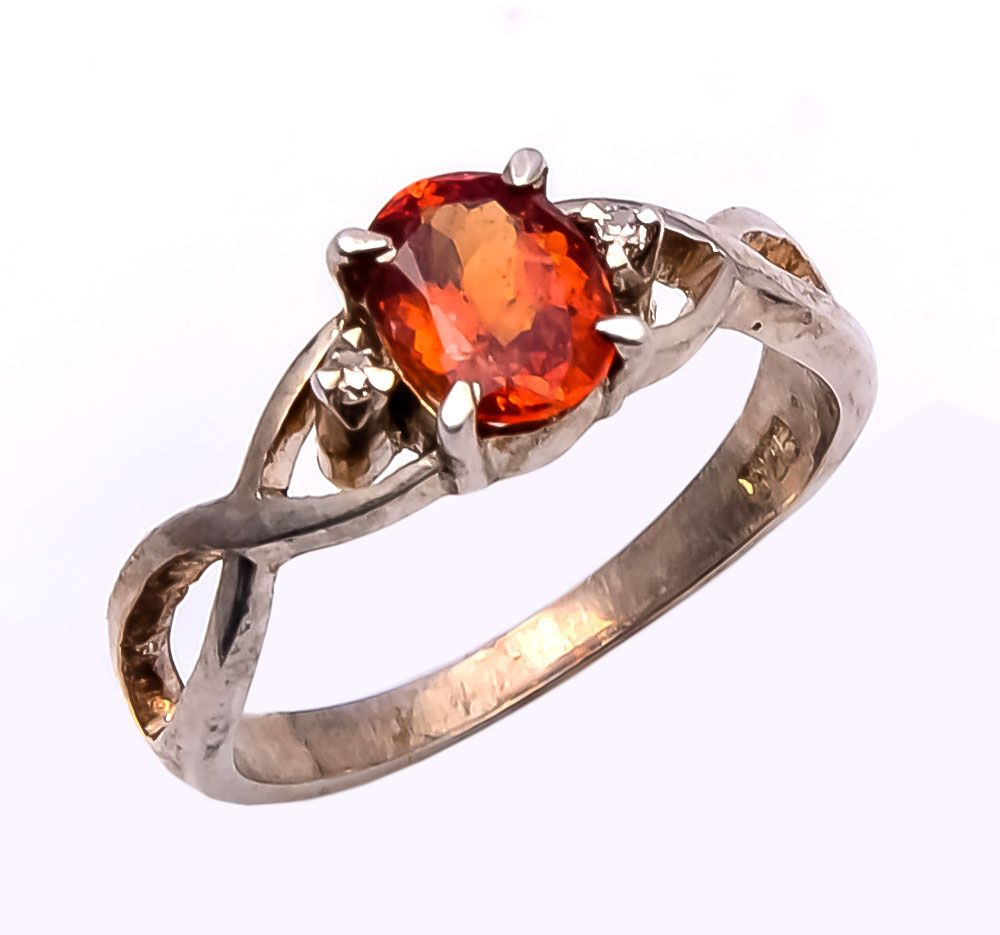 925 Sterling silver ring with Hessonite & Diamond https://www.etsy.com/people/asianjewellers09?ref=si_pr http://www.ebay.com/usr/asianjewellers