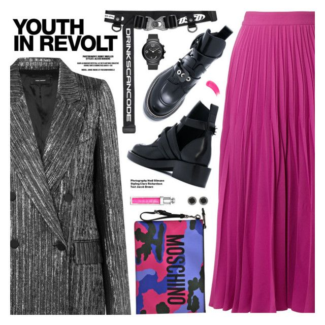 """""""Edgy Style"""" by pokadoll ❤ liked on Polyvore featuring Isabel Marant, CO, Moschino, Marc Jacobs, Christian Dior, Hedi Slimane, Sisley, polyvoreeditorial and polyvoreset"""
