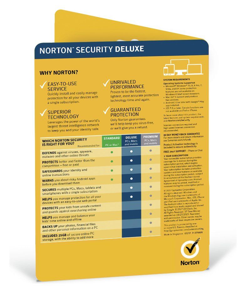 Norton Security Deluxe 2019 5 Devices For 1 Year In 2020 Norton Security Pc System Financial Information