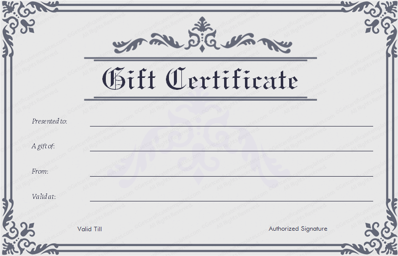 17 Best images about Beautiful Printable Gift Certificate ...