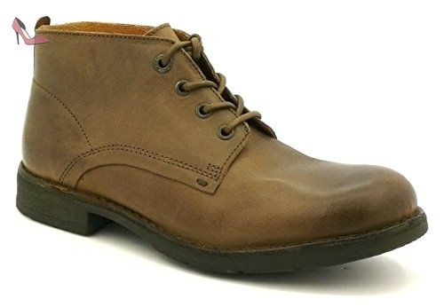 Kickers Bankam Marron Marron - Chaussures Low boots Homme