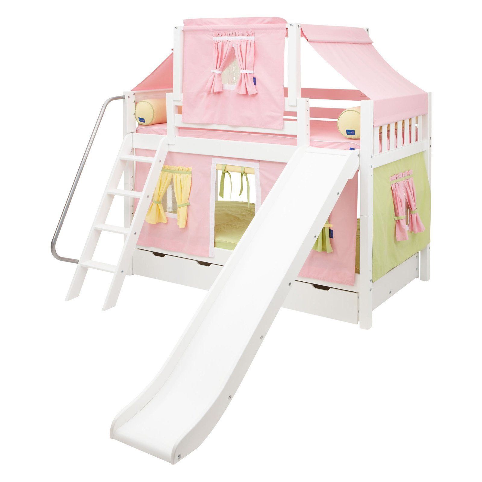 Have to have it. Laugh Girl Twin over Twin Slat Slide