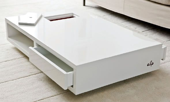 Contemporary Furniture Coffee Table Storage Alp by Annick L ...
