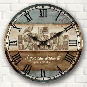 Grande vintage rustico reloj de pared madera cocina - Relojes pared grandes ...