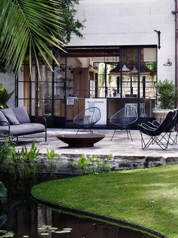 Teichgestaltung, Modern, Retro, Design, Gartenteich
