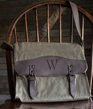 Monogram Messenger Bag - Green