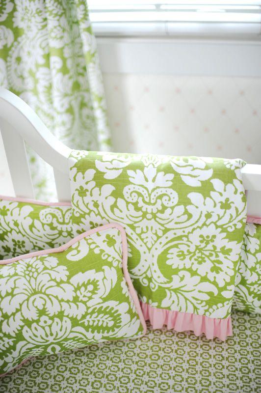 Bloom in Apple Crib Bedding Set