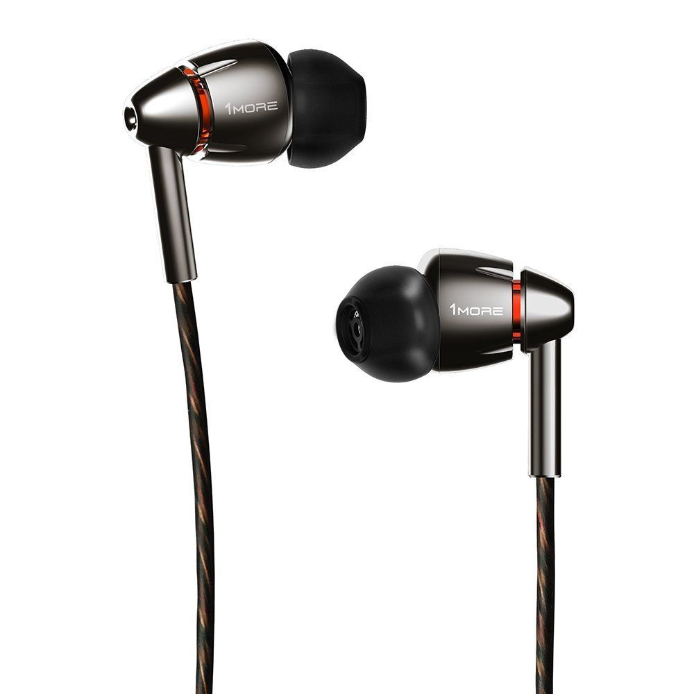 613d5952904368 1MORE Quad Driver E1010 In-Ear Earphones Earbuds with Apple iOS and Android  Compatible Microphone