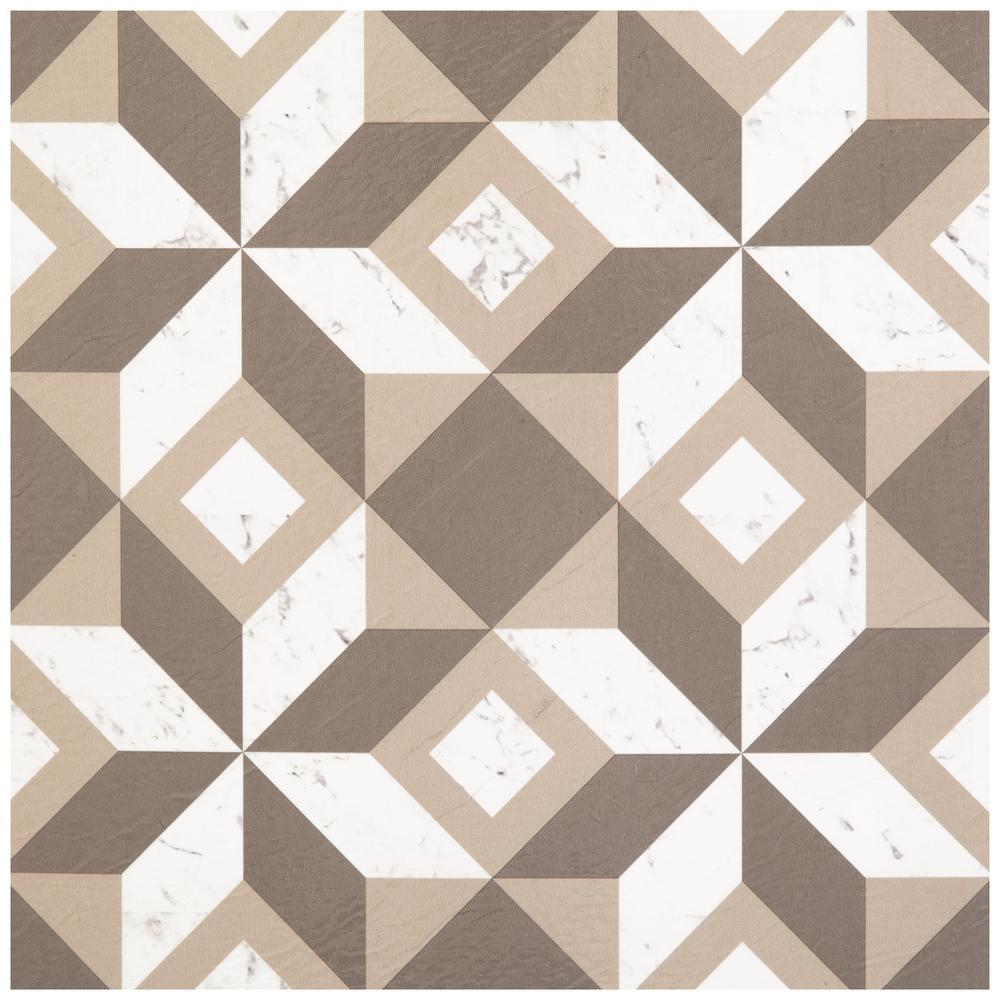 Achim Retro Prism Marble 12 In X 12 In Self Adhesive Vinyl Floor Tile 20 Tiles 20 Sq Ft Rtftv60520 The Home Depot Vinyl Flooring Tile Floor Luxury Vinyl Tile Flooring