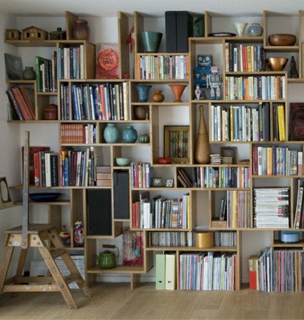 Bücherregal aus europaletten  bücherregal-selber-bauen-super-schönes modell   Möbel   Pinterest ...