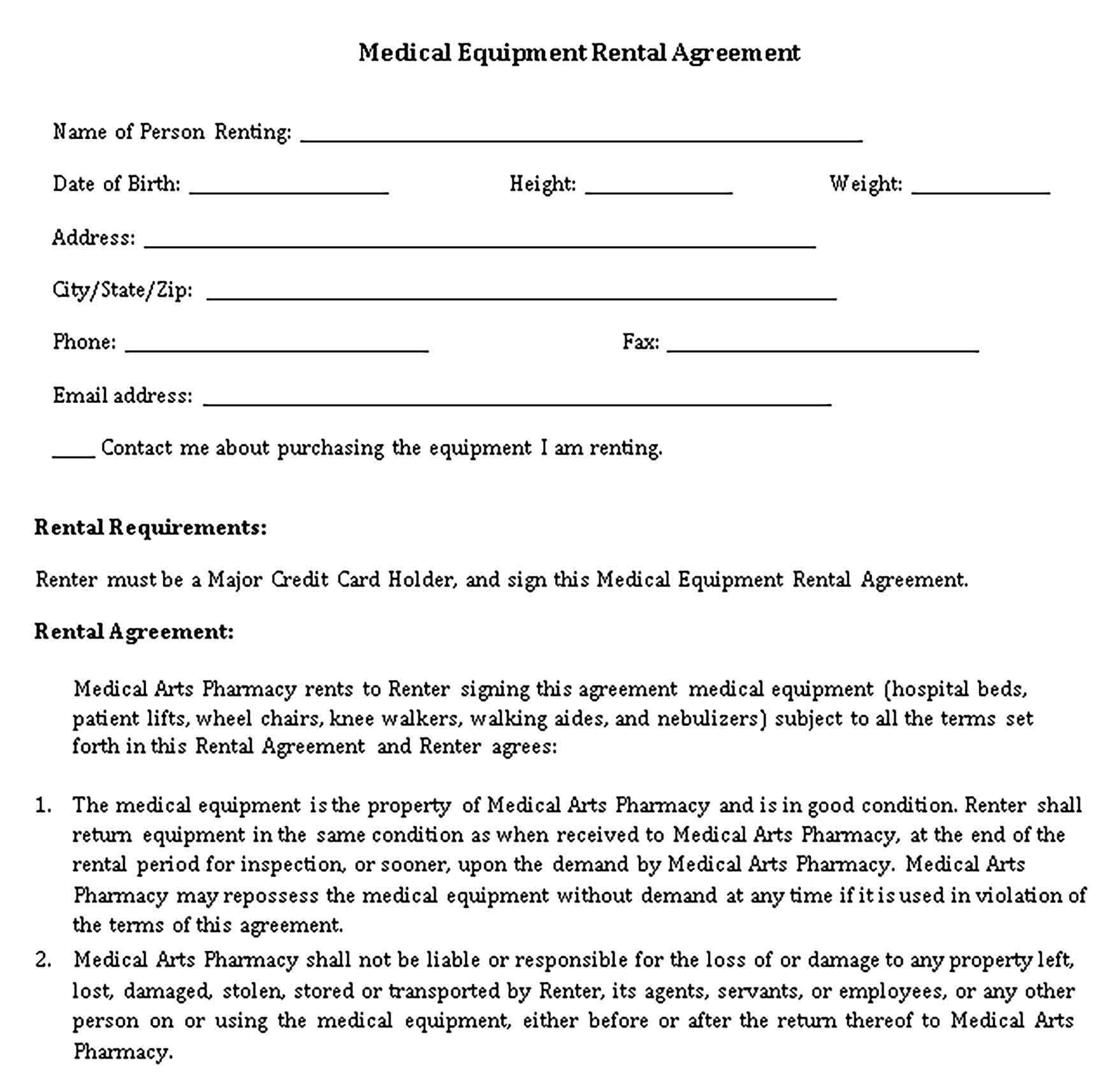Rent Agreement Format Sample Template in 2020 Rental