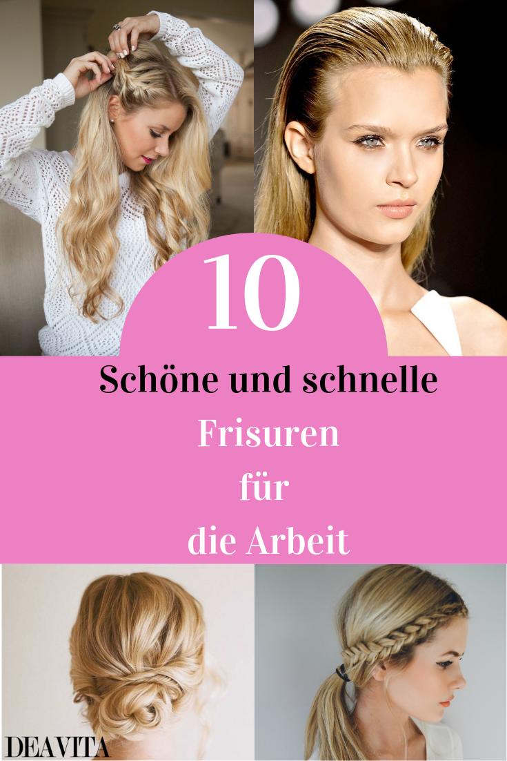 10 Schicke Und Einfache Frisuren Fur Die Arbeit Arbeit Einfache Frisuren Schicke Frisuren Fur Die Arbeit Frisuren Schick