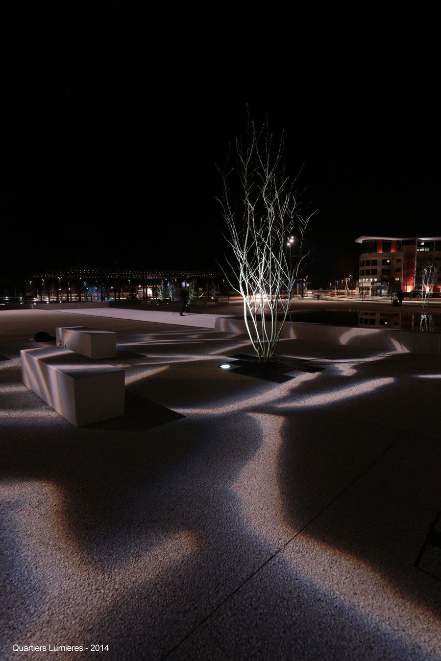 Exterior Gobo Projected Light Pathway