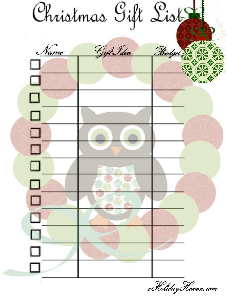 Printable Christmas List For Santa  Google Search