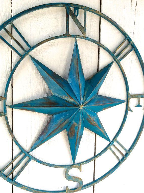 metal compass wall art metal wall decor nautical by on wall art decor id=85947