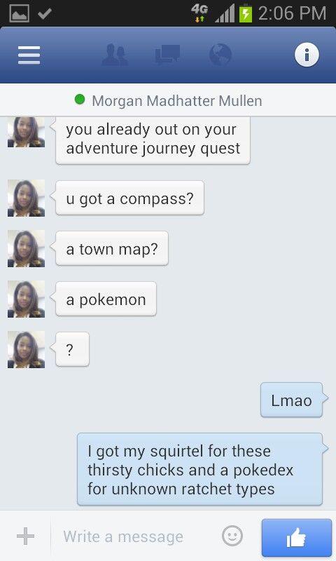 Awesome Friend. Funny pokemon screenshot chat. Travel journey. Fun.