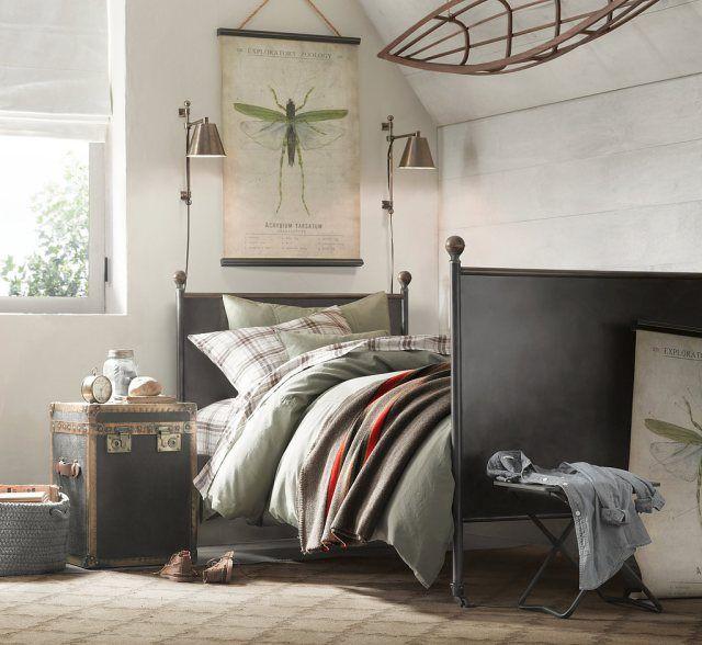 Dormitorio juvenil estilo vintage habitaci n chico - Dormitorio estilo vintage ...
