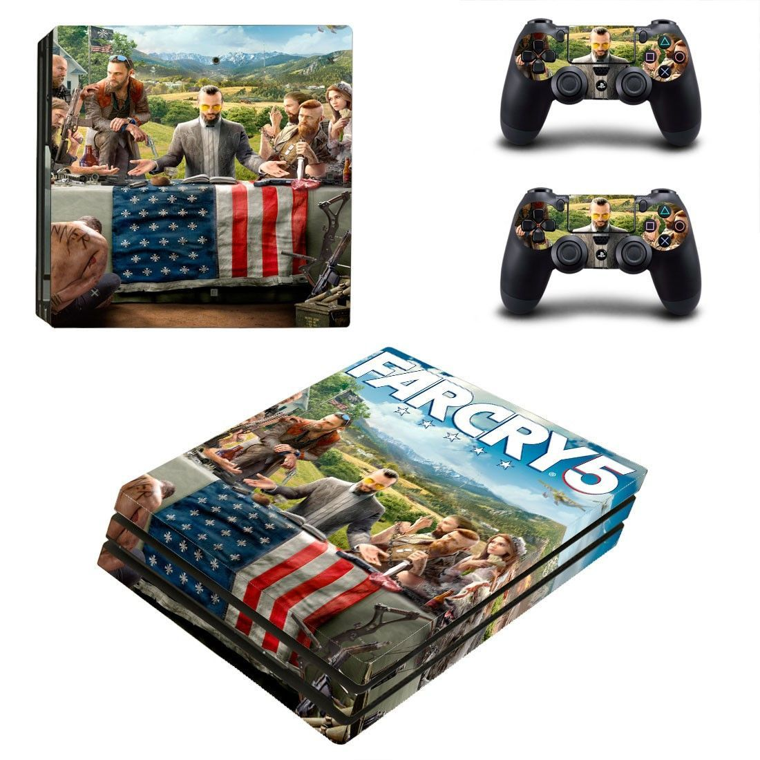 Farcry 5 Ps4 Pro Edition Skin Decal For Console And Controllers