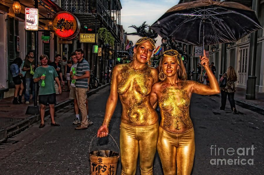 Bourbon Street, Golden Girls, Photography, French Quarter, Young Women,  Naked,