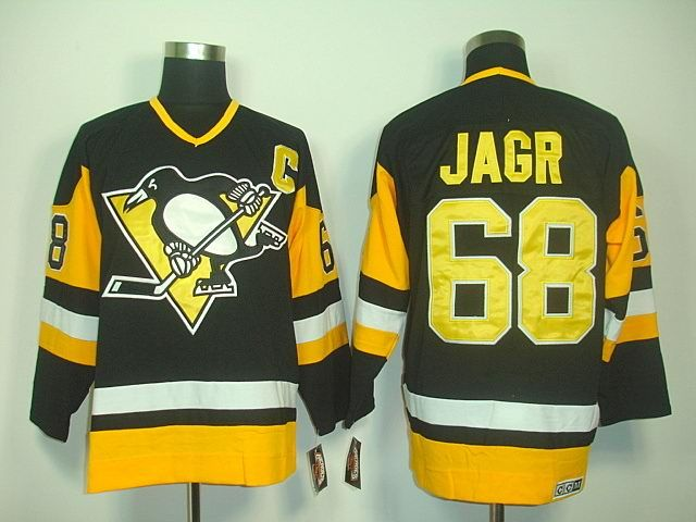 new style 19cf0 21c2f Pittsburgh Penguins 68 Jaromir JAGR Throwback Jersey ...