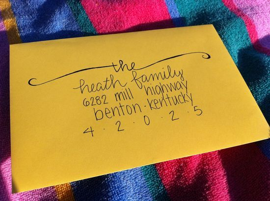 cute way to hand address Christmas cards envelopes Pinterest - how to address christmas cards