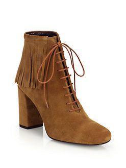 Saint Laurent Suede Fringe Boots choice cheap online sale Inexpensive JS7fJ6wLu