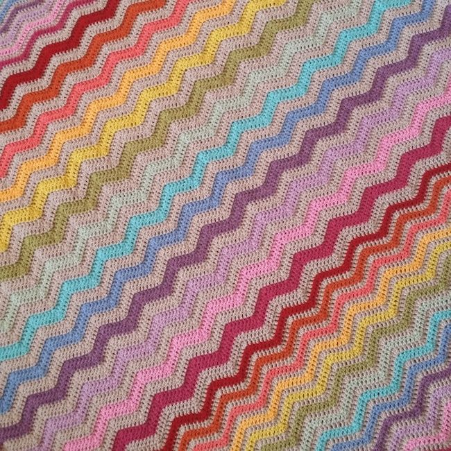 Ripple blanket | Colchas a crochet | Pinterest | Colchas, Cubrecamas ...