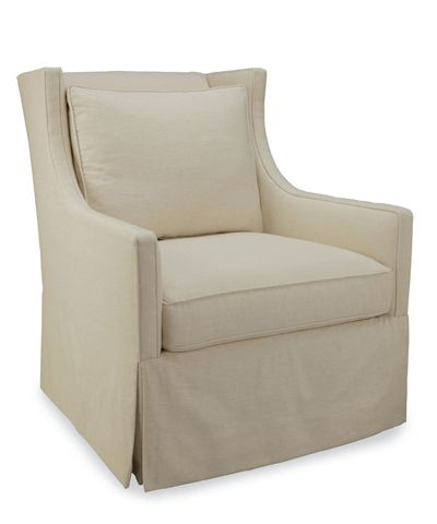 Beau Nazaire Armchair In Patton Flax   FURNITURE   Seating   Occasional Chairs