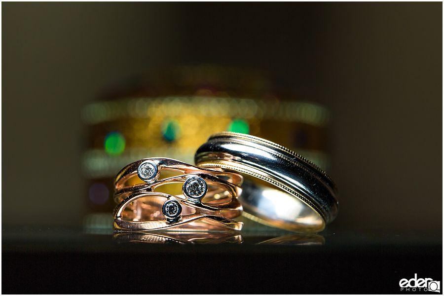 Wedding rings for small San Diego wedding photography san diego