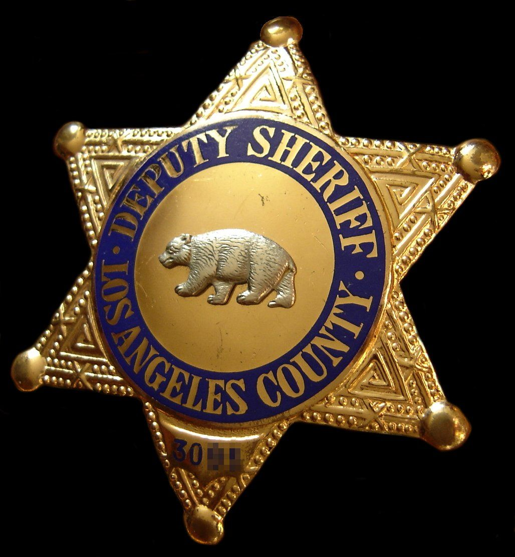 Deputy Sheriff Los Angeles County Police badge, Sheriff