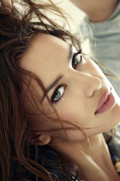 Brown Hair Grey Eyes Cassie Beautiful Eyes Woman Face