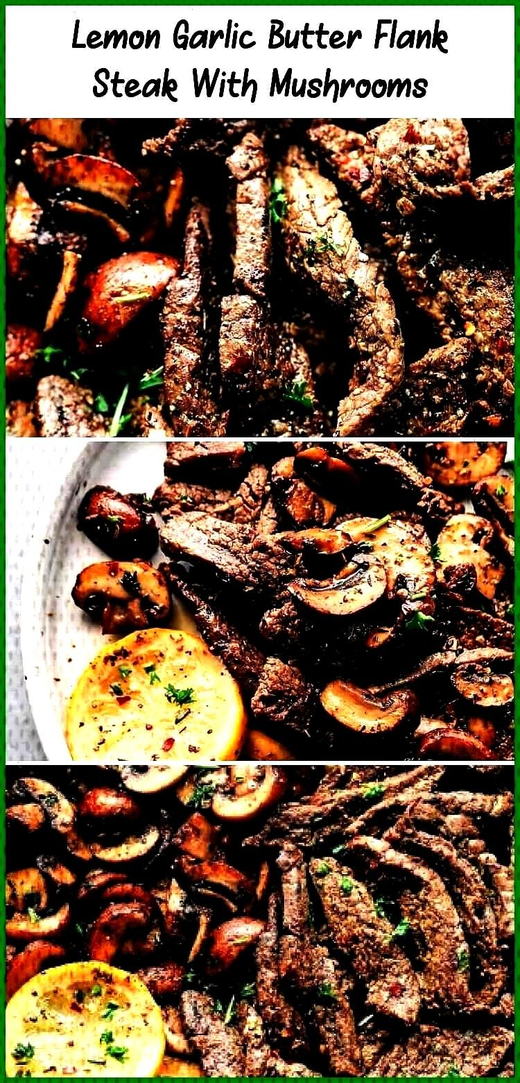 Butter Flank Steak with Mushrooms is an incredible and easy meal that is infused with such amazing