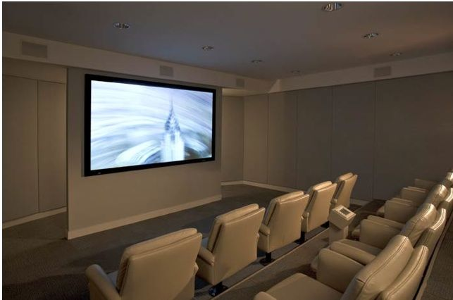 High End Yoga Studios Apartments Amenities Feature A Private Surround Sound Theater With