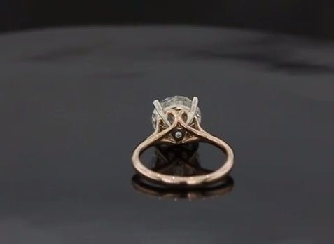 Amazing Custom Made Scroll Solitaire Engagement Ring With Surprise Diamond