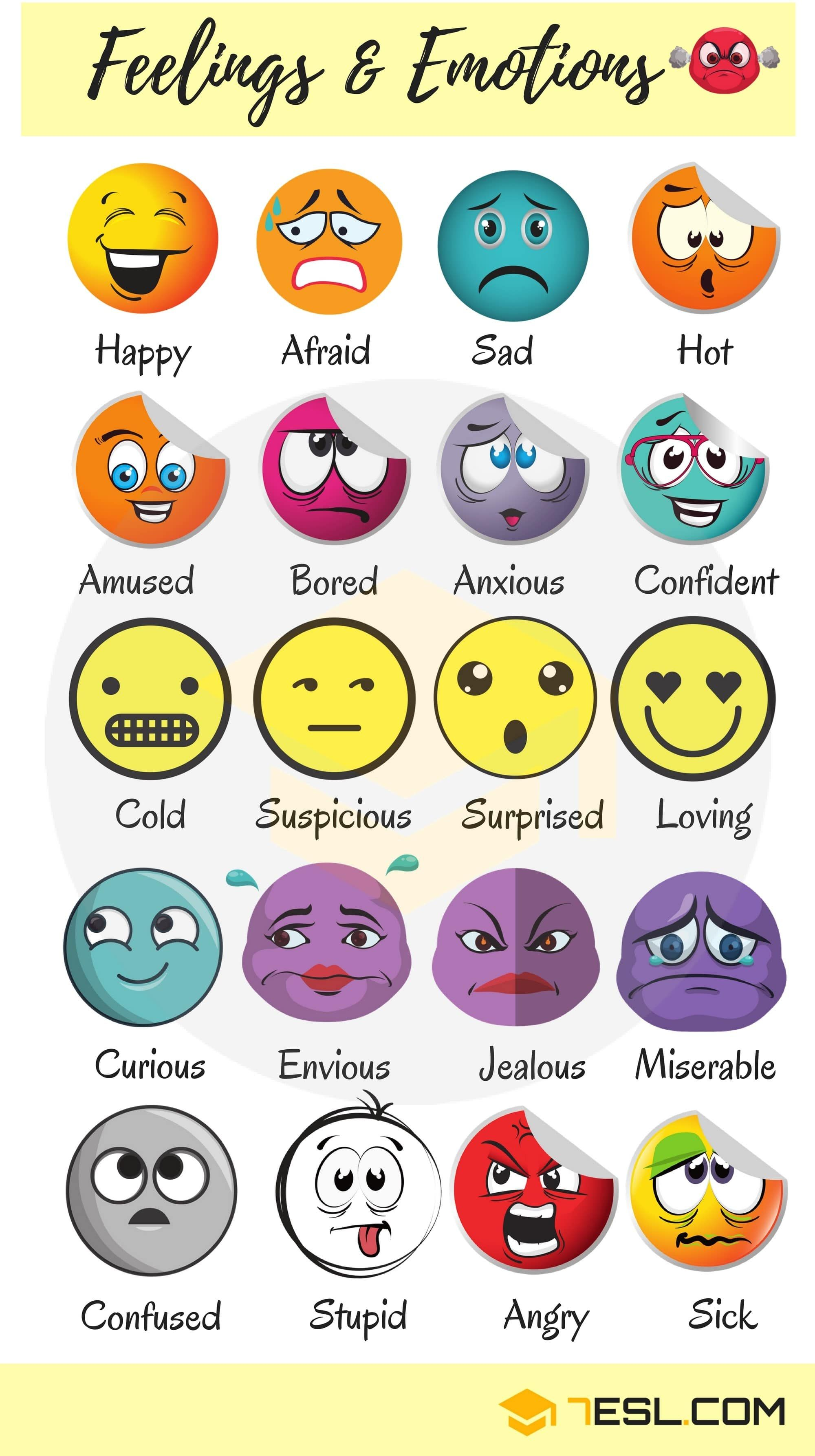 How To Describe Someone S Feelings And Emotions