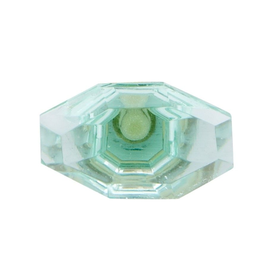 Octagonal Faceted Glass Door Knob Mint Green(SBR382G) | Hardware ...