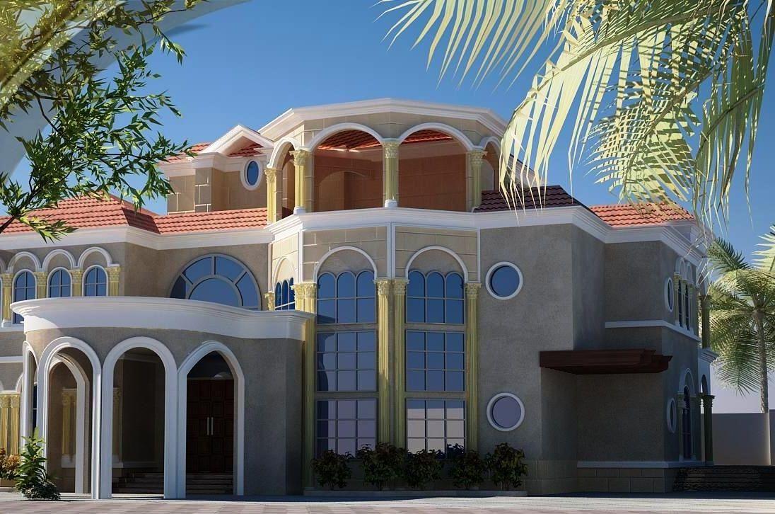 اشكال واجهات فلل خليجيه المرسال Family House Plans House Floor Design House Flooring