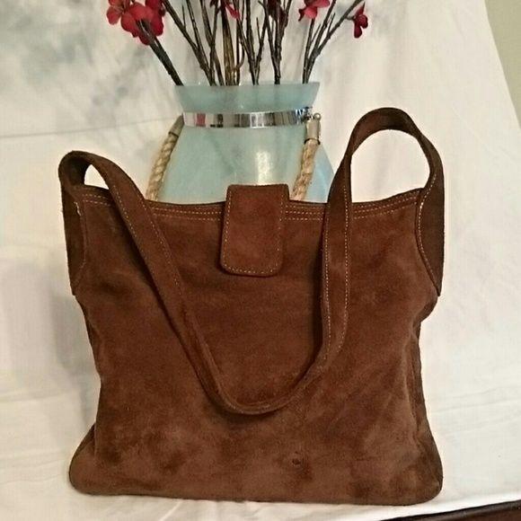 Purse /Handbag Suede Gap bag. Has a small spot. See picture 2. Gap Bags Satchels
