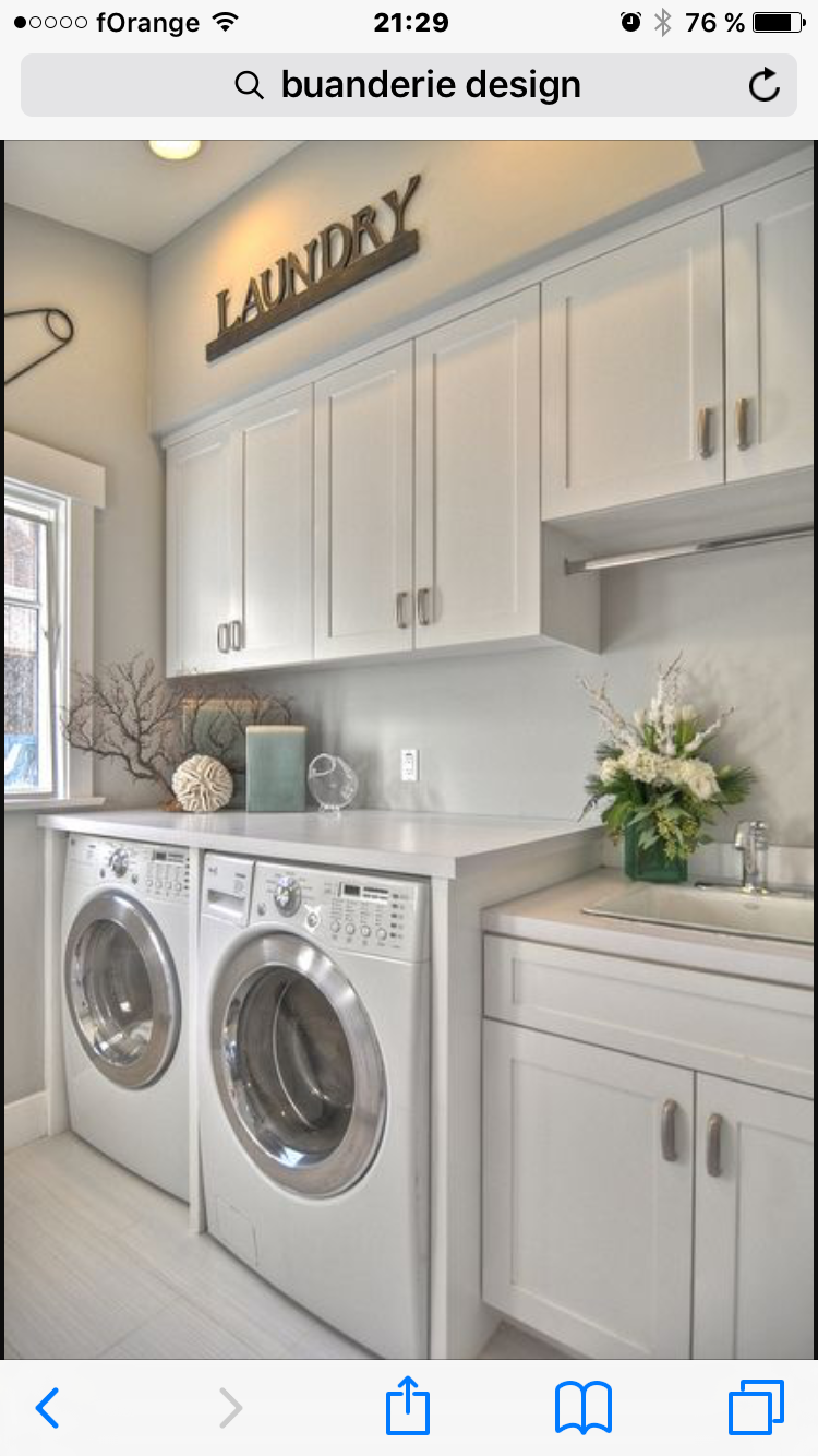 Bar over sink for clothes to dry.  Laundry room, Laundry mud room
