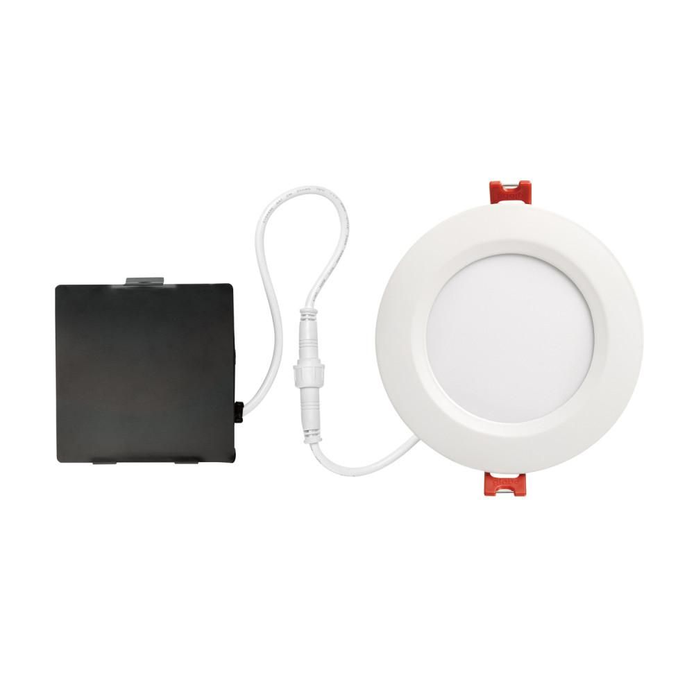 Globe Electric Ultra Slim Designer Series 4 In White Integrated Led Recessed Kit 91254 Led Recessed Lighting Recessed Lighting Kits Recessed Lighting Trim