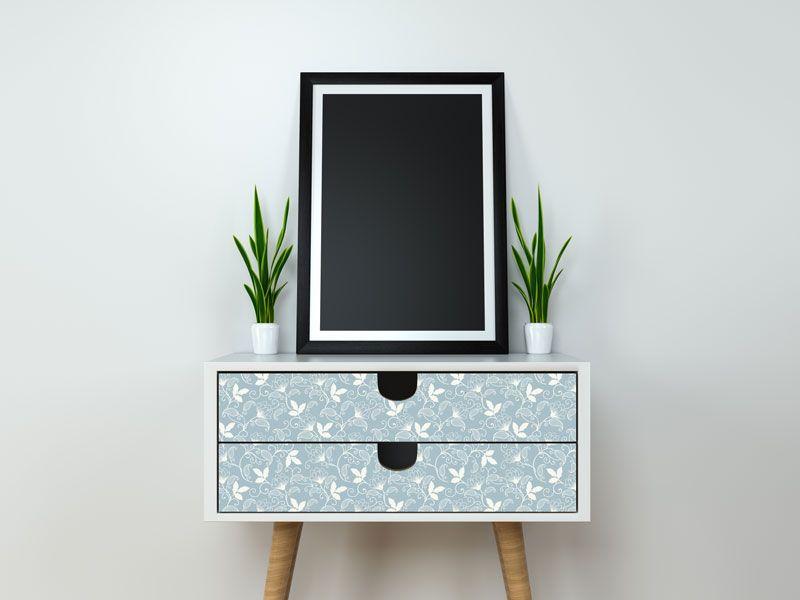 Vinilo impreso con motivo floral para decoración de muebles, paredes