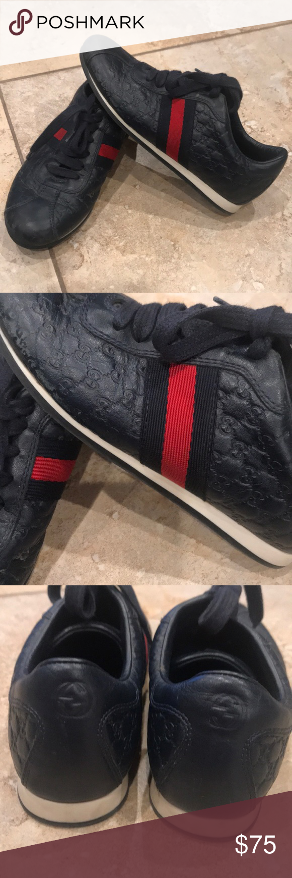 Gucci Logo kids shoe size 31 Italy is
