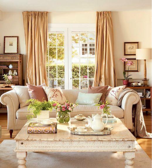wohnzimmer wandfarbe cremeweiß rosa akzente beige vorhänge house - wohnzimmer rosa beige