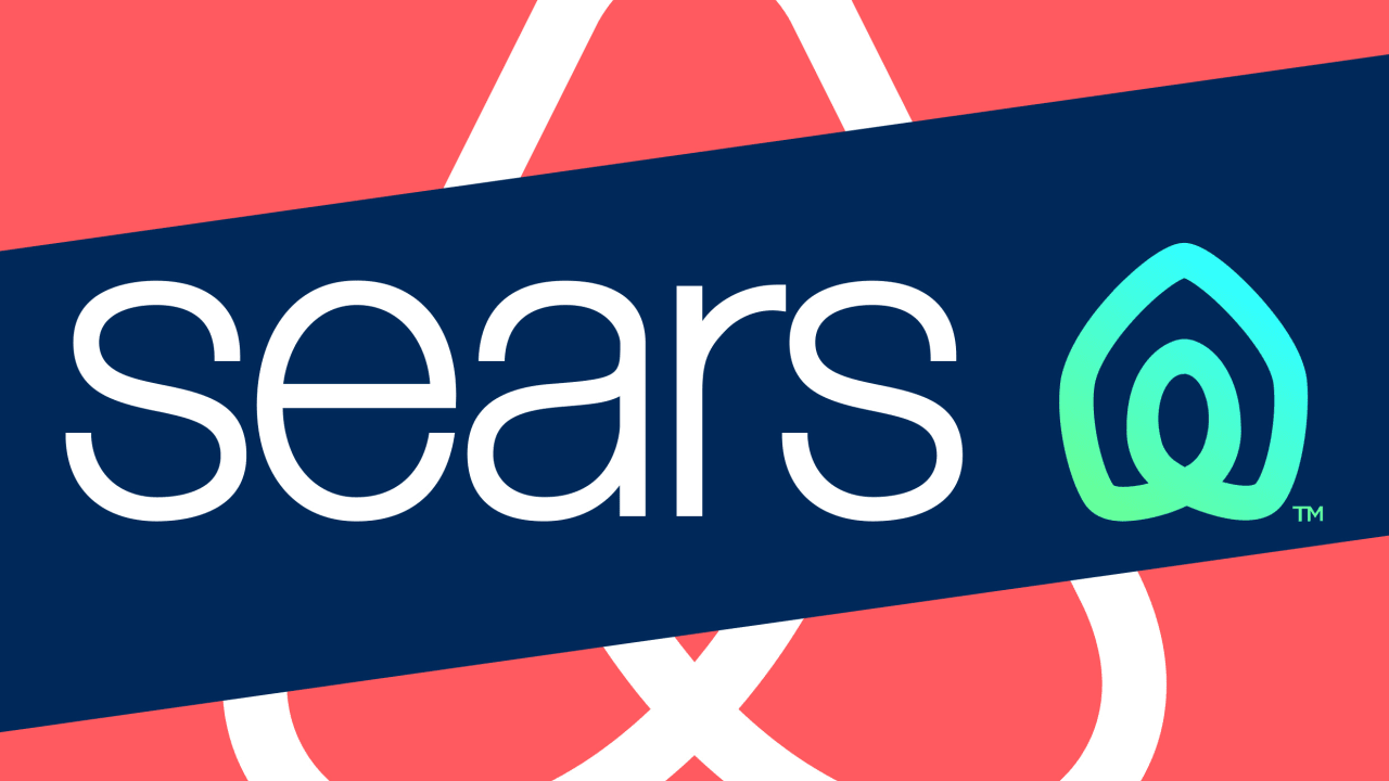 Sears S New Logo Makes It Look Like A Tech Company Startup Branding Logos Old Logo