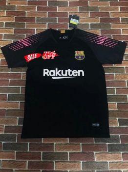 d77252c8f7b 2018-19 Cheap Goalie Jersey Barcelona Black Replica Soccer Shirt  DFC85
