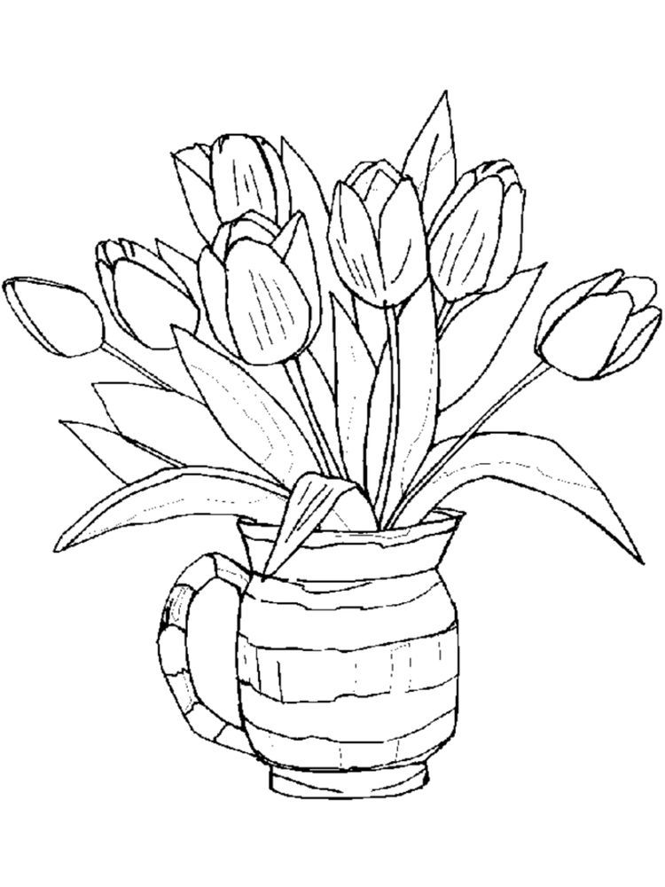 Printable Spring Flowers Coloring Pages Free Printable Flower
