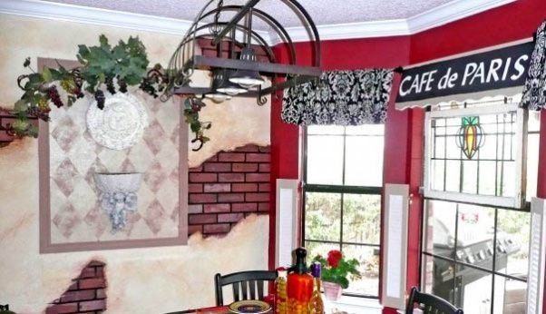 French bistro kitchen theme funky paris cafe theme this for Cafe themed kitchen ideas