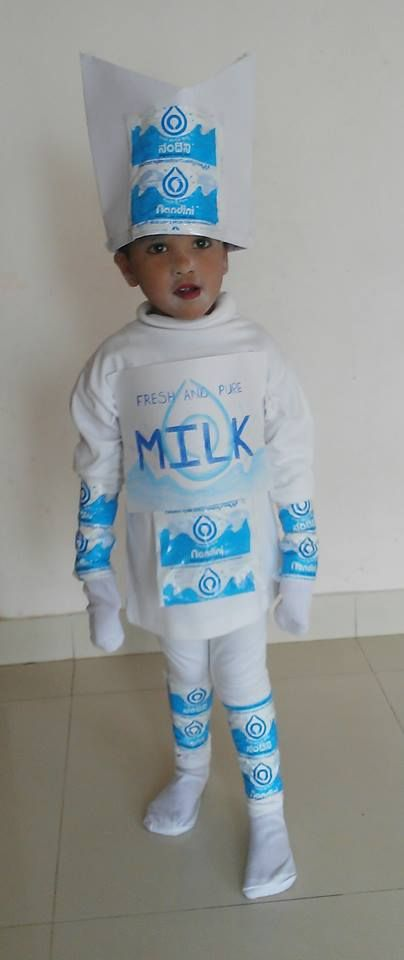 8c909b951 Kids Fancy Dress Ideas - Kid as milk