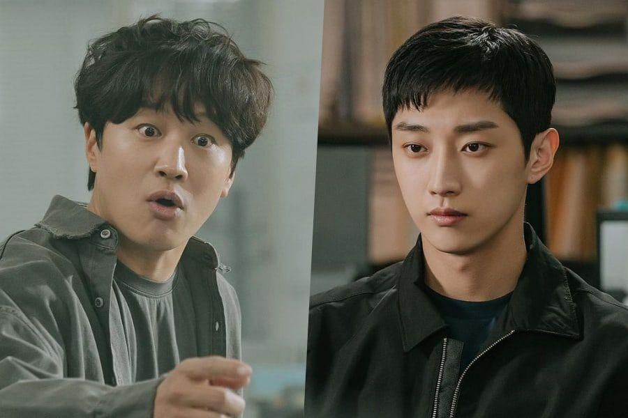 """Cha Tae Hyun Is Shocked To See B1A4's Jinyoung At The Police Station In Upcoming Drama """"Police University"""""""